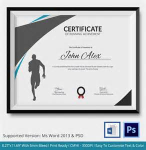 5 running certificates psd amp word designs design