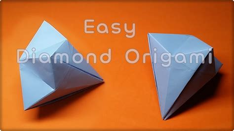 How To Make Diamonds Out Of Paper - how to make a paper easy 다이아몬드 종이접기