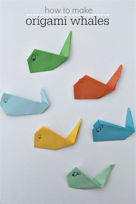 How To Make An Origami Whale - origami whale tutorial images
