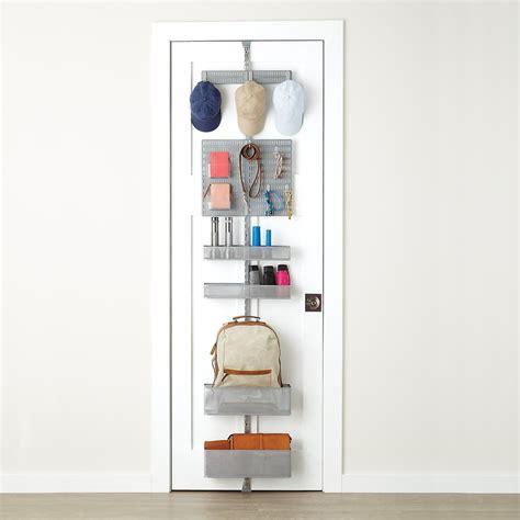 closet door rack platinum elfa utility mesh entry door wall rack the