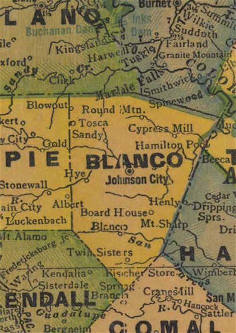 blanco county map blanco county