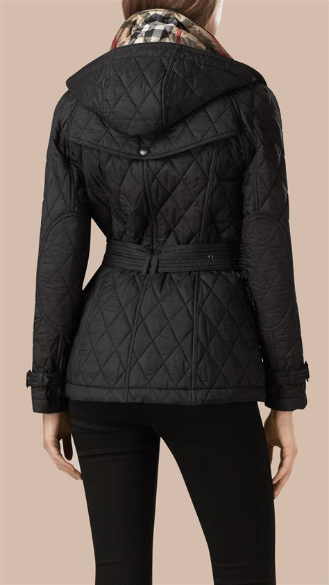burberry quilted shell trench jacket in black lyst