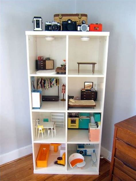 flickr finds bookcase dollhouse apartment therapy