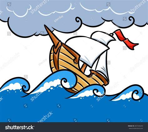 cartoon boat at sea sea clipart sea storm pencil and in color sea clipart