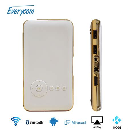 projector app for android phone 5000 mah battery everycom s6 plus mini phone projector dlp wifi portable handheld smartphone