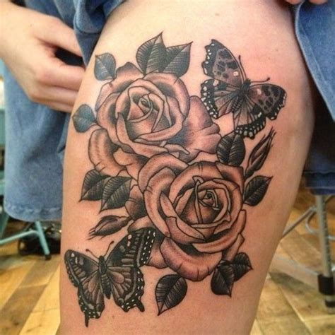 rose tattoos on thigh 17 best ideas about butterfly thigh on