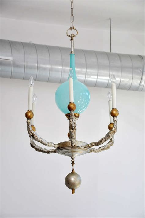 Murano Chandeliers Sale Vintage Blue Murano Glass Chandelier One Of A For Sale At 1stdibs