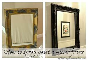 spray painted gold yard sale mirror how to spray paint a mirror frame