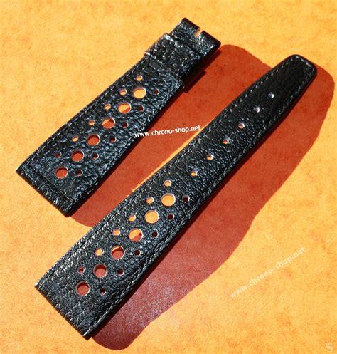 Tag Heuer Black Leather 22mm vintage corfam heuer monaco tag heuer monaco autavia