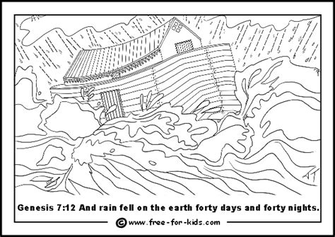 Flood Coloring Pages ark in a flood file size 0 3mb the great flood arrived and