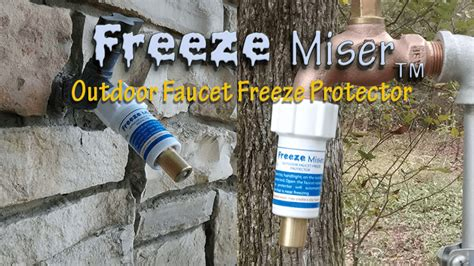 Protect Outside Faucets Freezing by Baker Products Ltd Innovative Freeze Protection Products