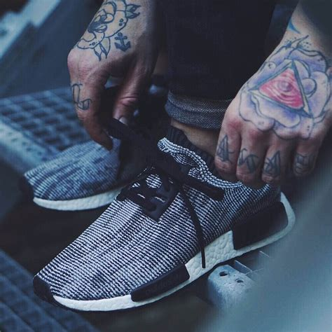 adidas tattoo adidas nmd runner black 215 tattoos soletopia