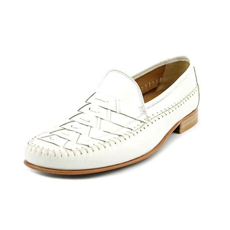 white leather loafers mens florsheim bridgeport n moc leather white loafer loafers