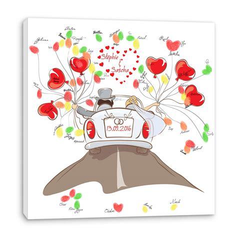 Hochzeit Leinwand by Fingerabdruck Baum Auf Leinwand Hochzeitsspiel