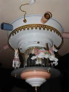 carousel ceiling fan revolving carousel ceiling light l mirrored by