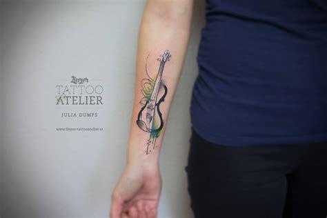 Imagenes De Tatuajes De Violines | violin en acuarelas by julia dumps tatuajes para mujeres