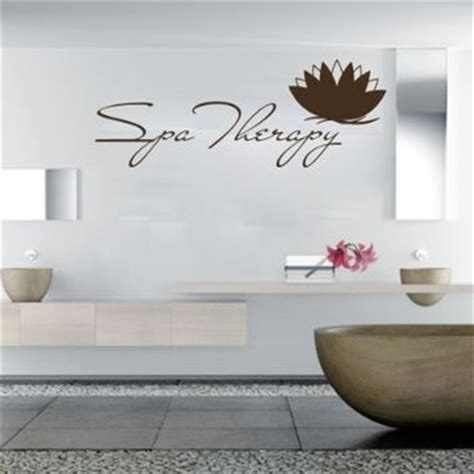 spa wall decor wall decals spa therapy nature lotus from