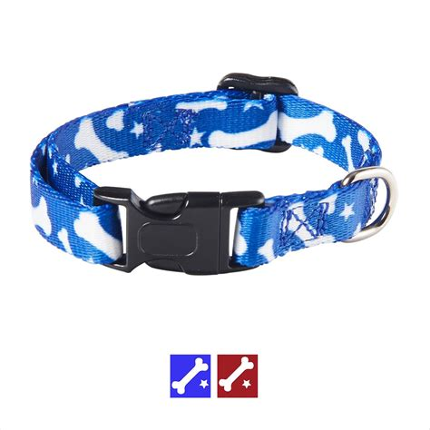 blue pattern dog collar casual canine pooch pattern dog collar blue bone large