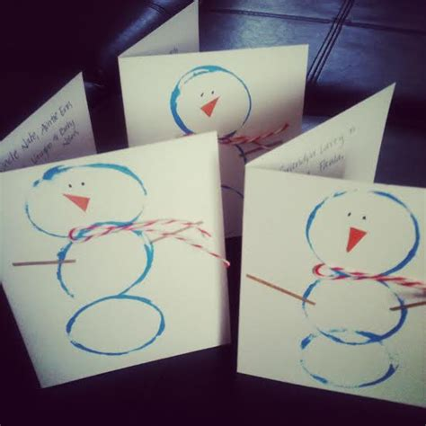 thank you cards for children to make thank you cards can make cards snowman