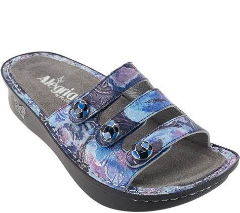 qvc sandals clearance quot as is quot alegria printed sandals fiona