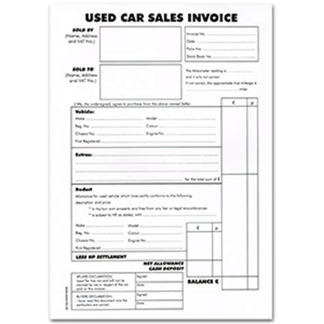car sales invoice template uk invoice for car sale rabitah net