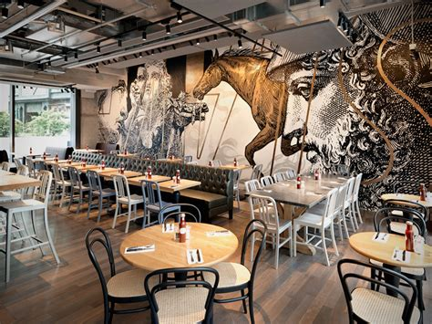 Liberty Place Floor Plans beef amp liberty restaurant in hong kong features wall art