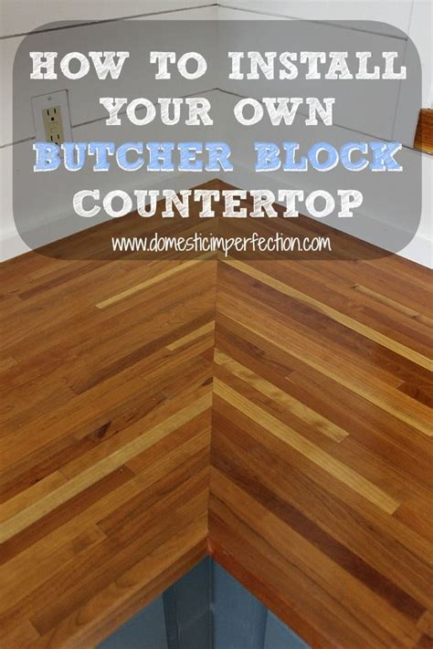 Make Your Own Butcher Block Countertop by Installing Butcher Block Countertops