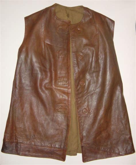 pattern white leather jerkin ats first pattern leather jerkin
