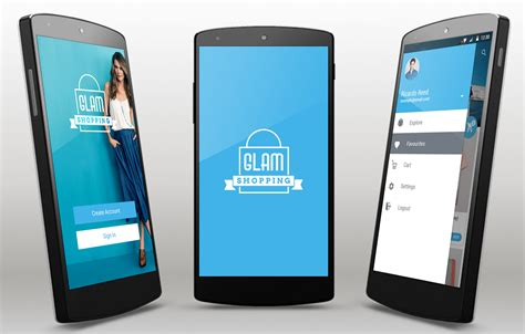 Glam Android App Template Android Mobile App Templates