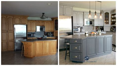 painting oak cabinets white before and after 4 ideas how to update oak wood cabinets