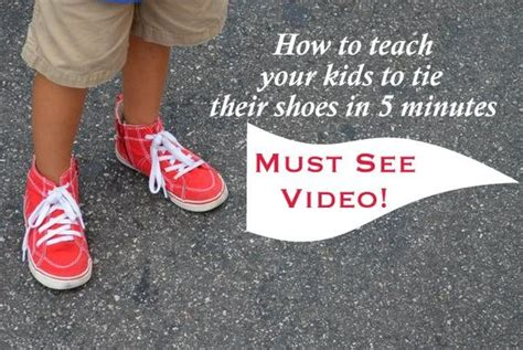 how to teach to tie shoes teach your to tie their shoes in 5 minutes