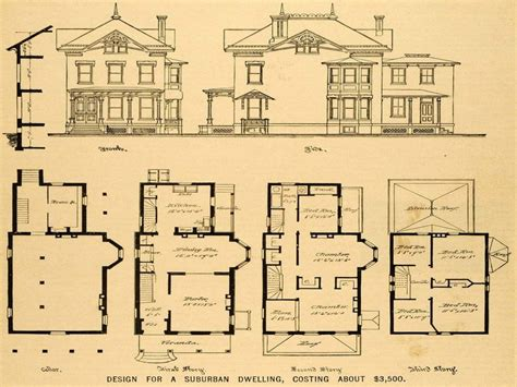 old victorian house floor plans fantastic floorplans vintage victorian house plans 1879 print victorian house