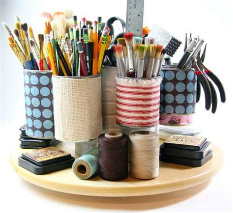 diy craft caddy tin can crafts arts and crafts ideas