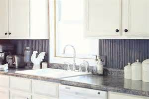 tin kitchen backsplash corrugated tin from an farm building for the