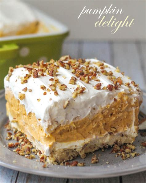 desserts pumpkin best pumpkin delight dessert recipe lil