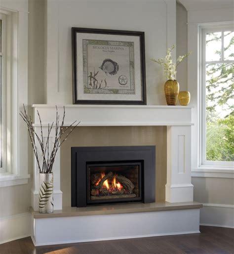 gas insert fireplace mantels surrounds white corner