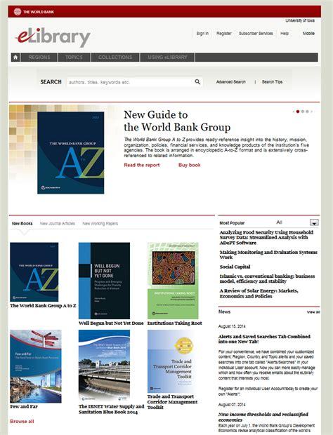 database world bank database of the week world bank elibrary the