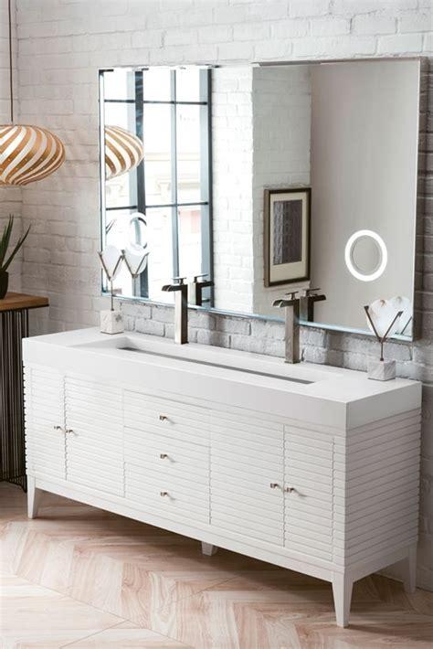 james martin linear double   modern bathroom