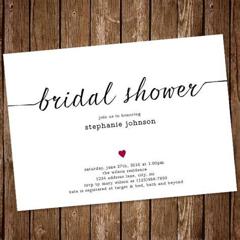 Invitation Simple Bridal Shower Invitation 2417404 Weddbook Simple Bridal Shower Invitations Templates