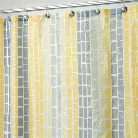 yellow and gray drapes yellow and grey fabric curtain for shower useful