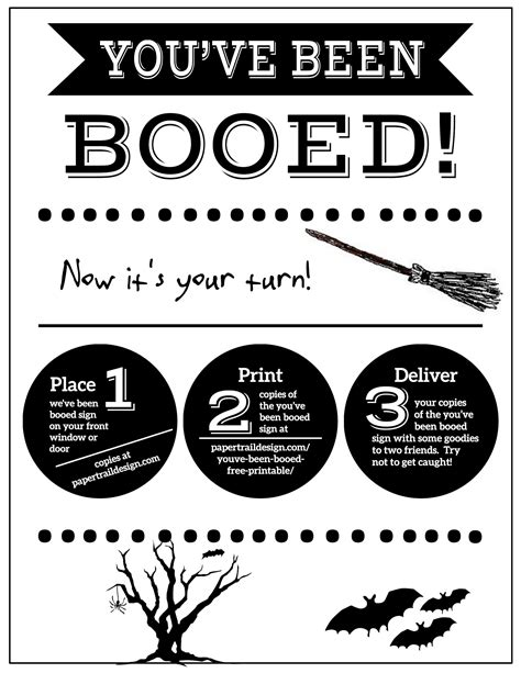 printable you ve been booed you ve been booed free printable signs paper trail design