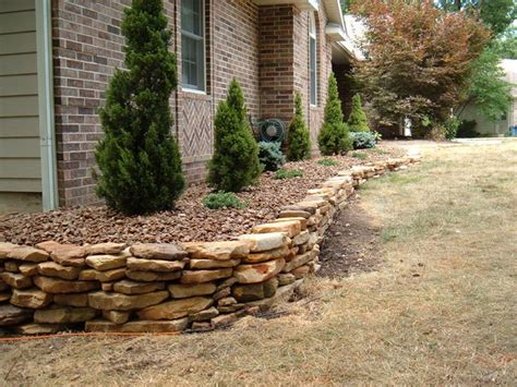 natural stone retaining wall home pinterest