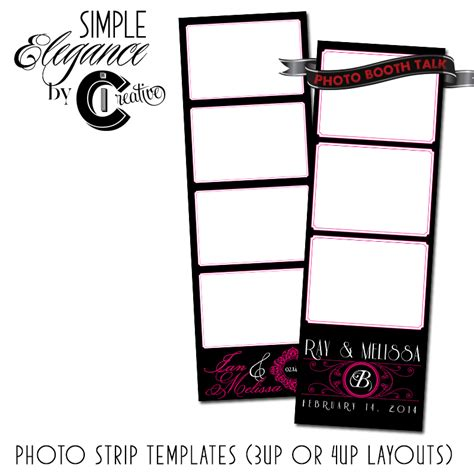 photo booth card template simple elegance by ci creative photo booth talk