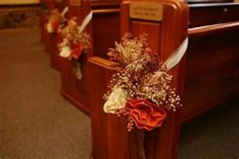 fall pew decorations for weddings pew decor pew decorations floral