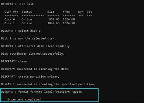 format diskpart fat32 quick fix for diskpart format stuck at 0 10 11 12 100