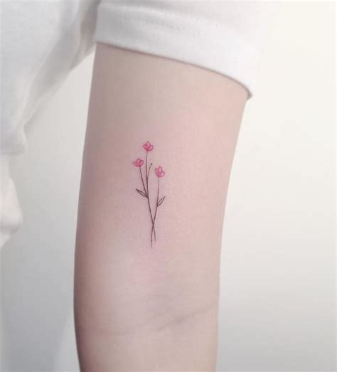 small flowers tattoo pin by foster on delicate