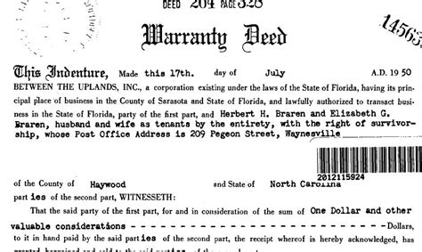 Sarasota County Civil Search Clause Appears In 1950 Deed March 6 2014 Michael Braga Inside Real Estate