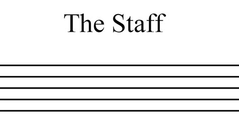 The Staff theory the staff treble clef and bass clef