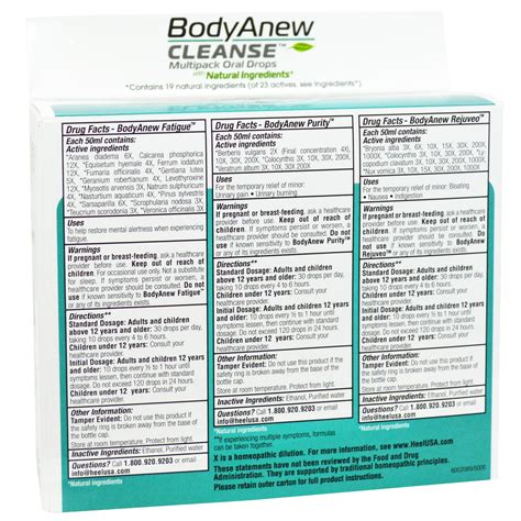 Detox Drops In A Box by Medinatura Bodyanew Cleanse Multipack Drops 3