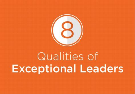 8 qualities of exceptional leaders